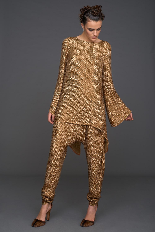 Gold Pants & Top
