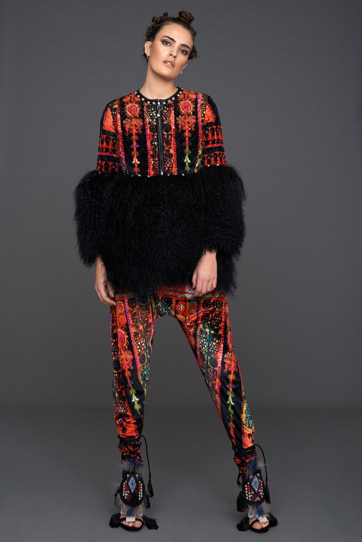 Velvet Fur Coat & Pants
