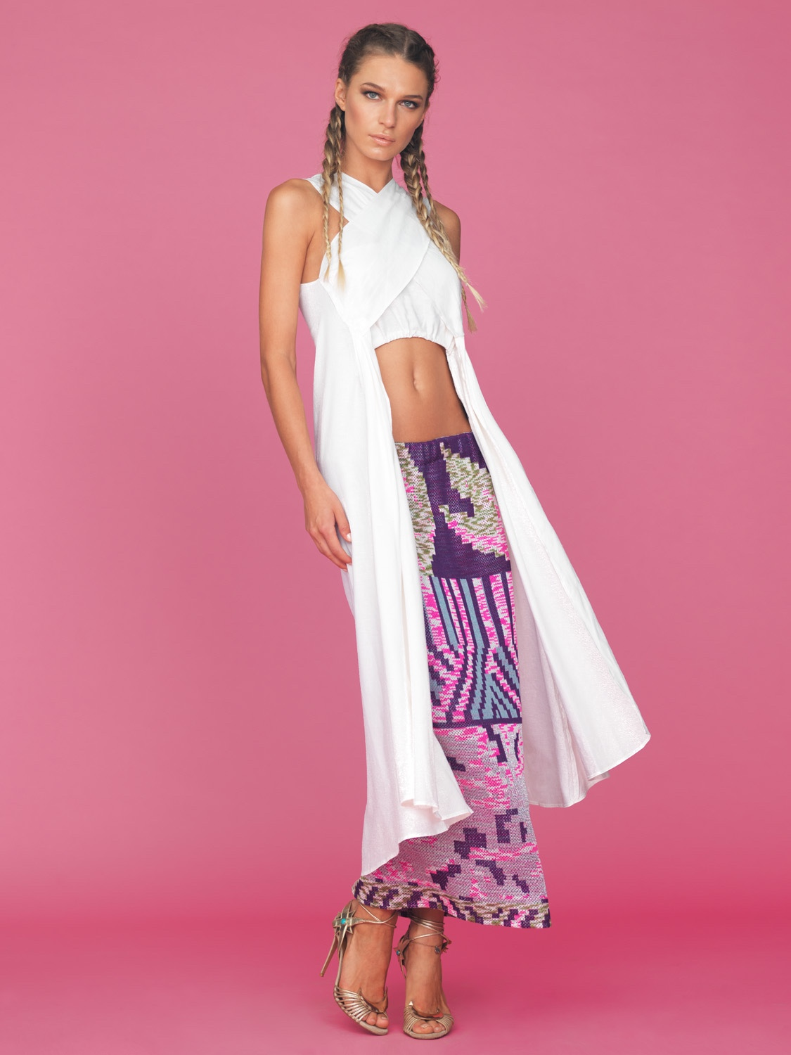 Lobo Long Skirt And Asymmetric Top