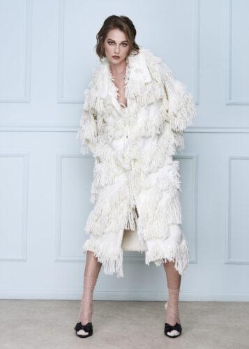 Crude Wool Coat Long