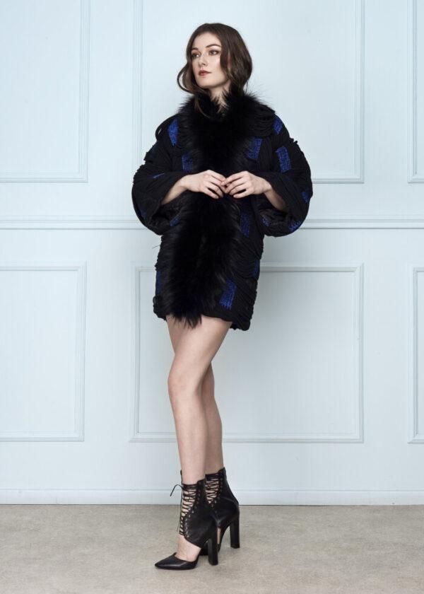 Blue & Black Coat