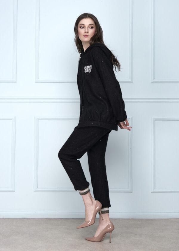 Wool Black Pant