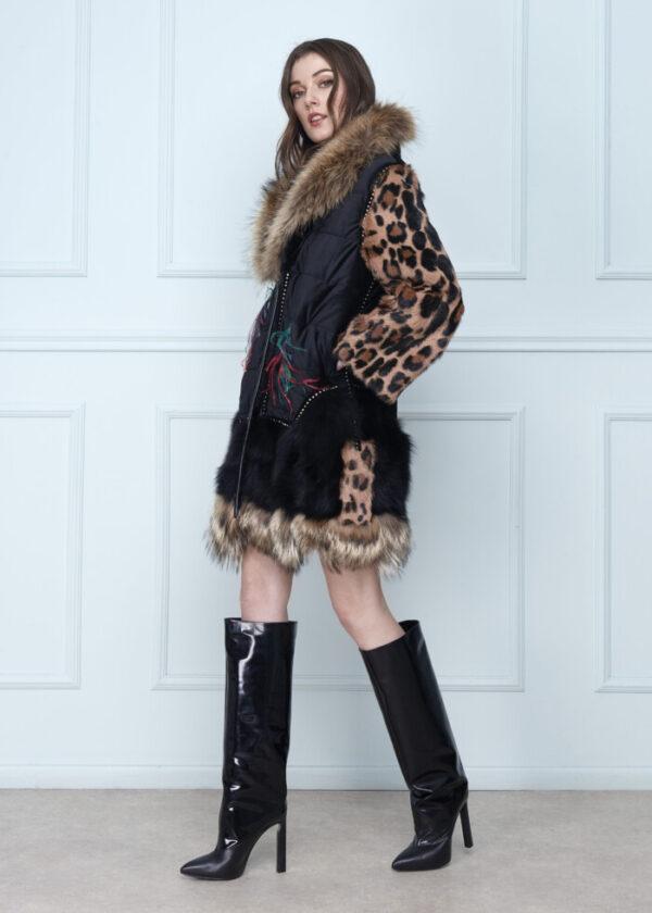 Sleeves Velvet Coat Short