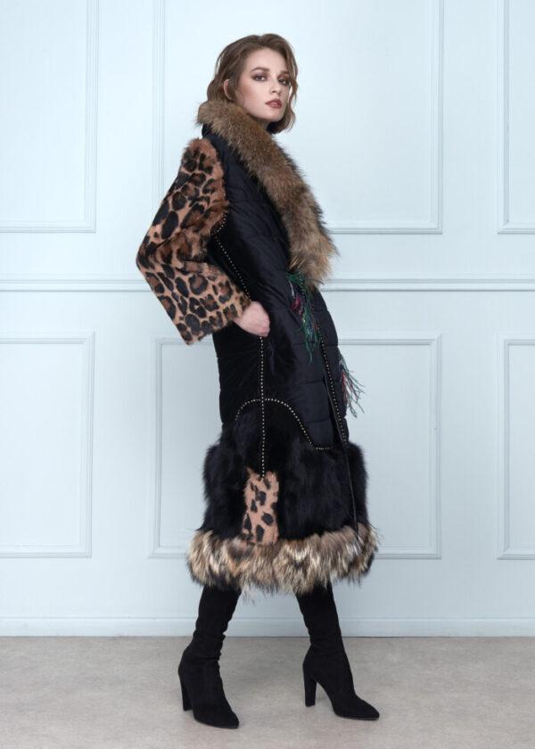 Sleeves Velvet Coat Long