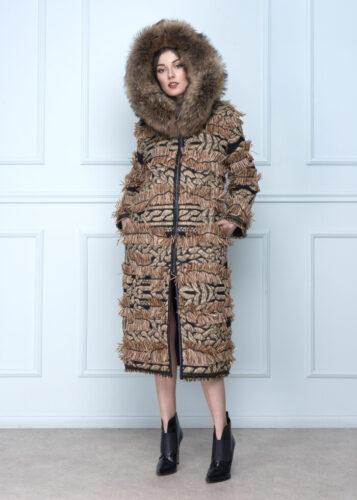 Long Raffia Coat