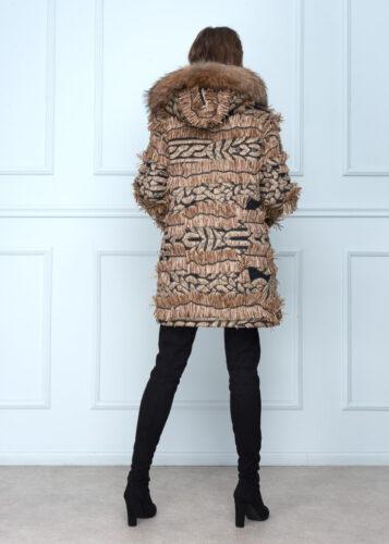 Short Raffia Coat
