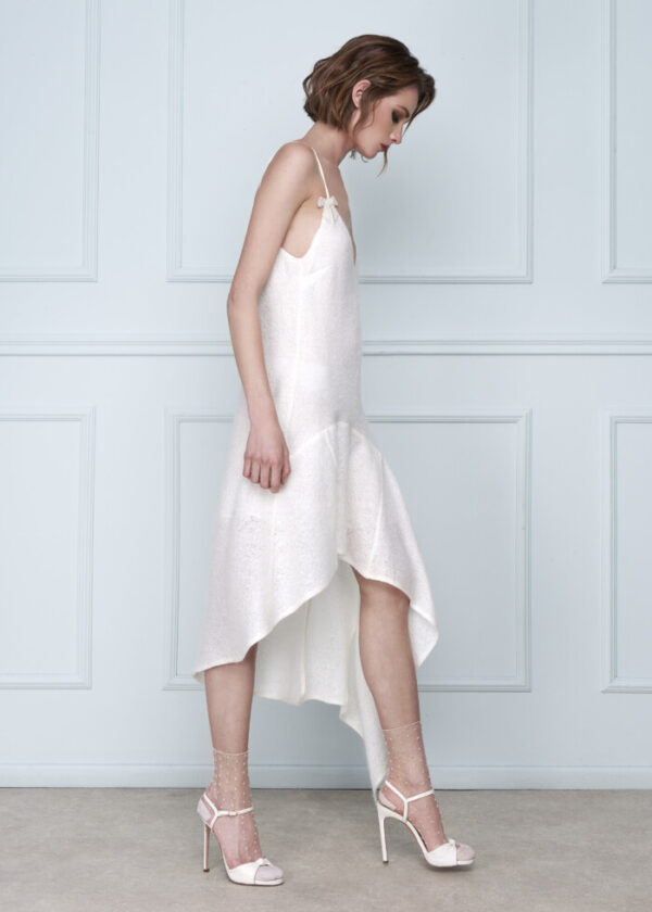 White Wool Dress