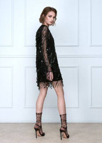 Black Beads Dress