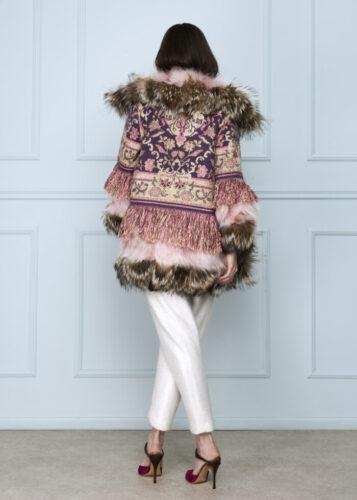 Pink Fringe Coat